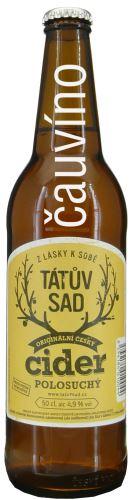 Cider Tátův Sad Jan Abt 0,5 l polosuchý