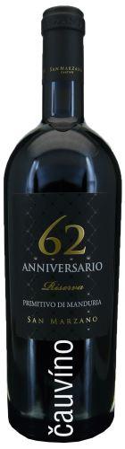Primitivo di Manduria 62 Vintage 2014 Sessantanni 0,75l Itálie suché