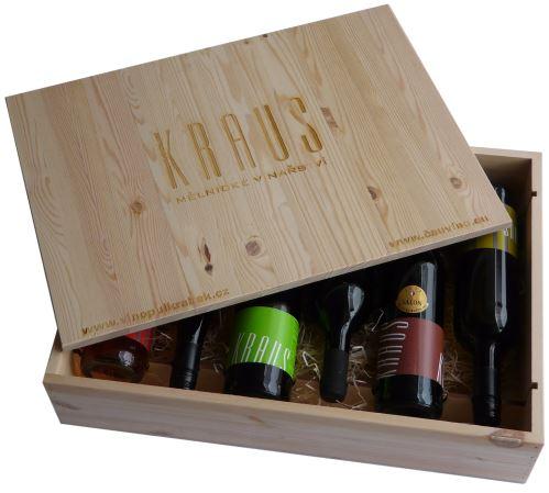 Dárková bedna s vínem 6 vín Vinařství Kraus