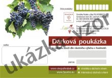 Dárková poukázka, šek na nákup vín 1.500,- Kč
