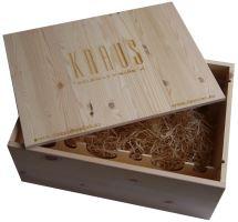Bedna na 12 vín Vinařství Kraus s logem